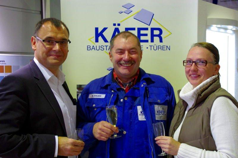 Geschäftsführer Robert Erhard, Norbert Bauer, Sybille Schuhmann (Abteilungsleiterin Stahl)
