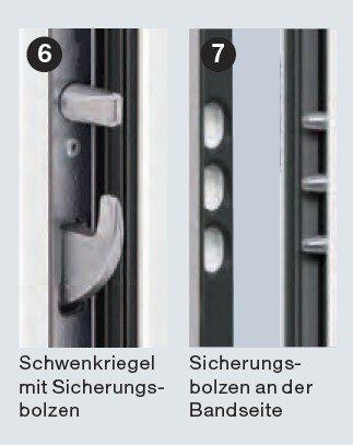 Verschluß: 5fach Sicherheitsschloß Sicherheitstür KSI Schloss