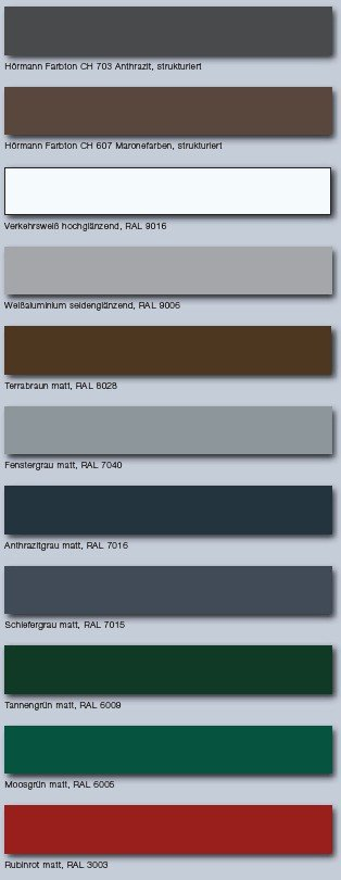 ThermoSafe Haustüren Farben
